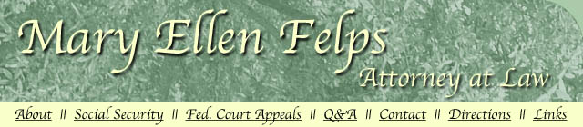 Mary Ellen Felps - Attorney at Law - Austin, TX - Social Security Disability - Federal Court Appeals